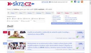 Skrz.cz -  sekce zboží