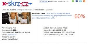 Slevomat.cz - 3ks značkových boxerek se 60% slevou