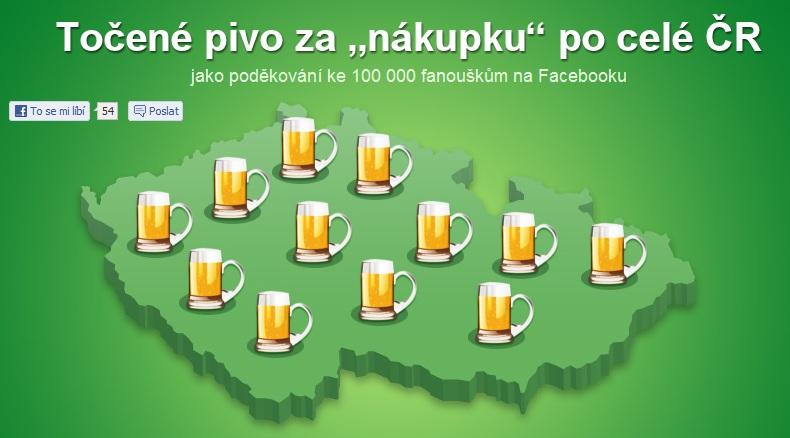 Pivo za nákupku po celé ČR <a href=