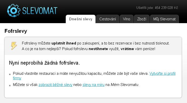 Slevomat.cz - Fofrslevy